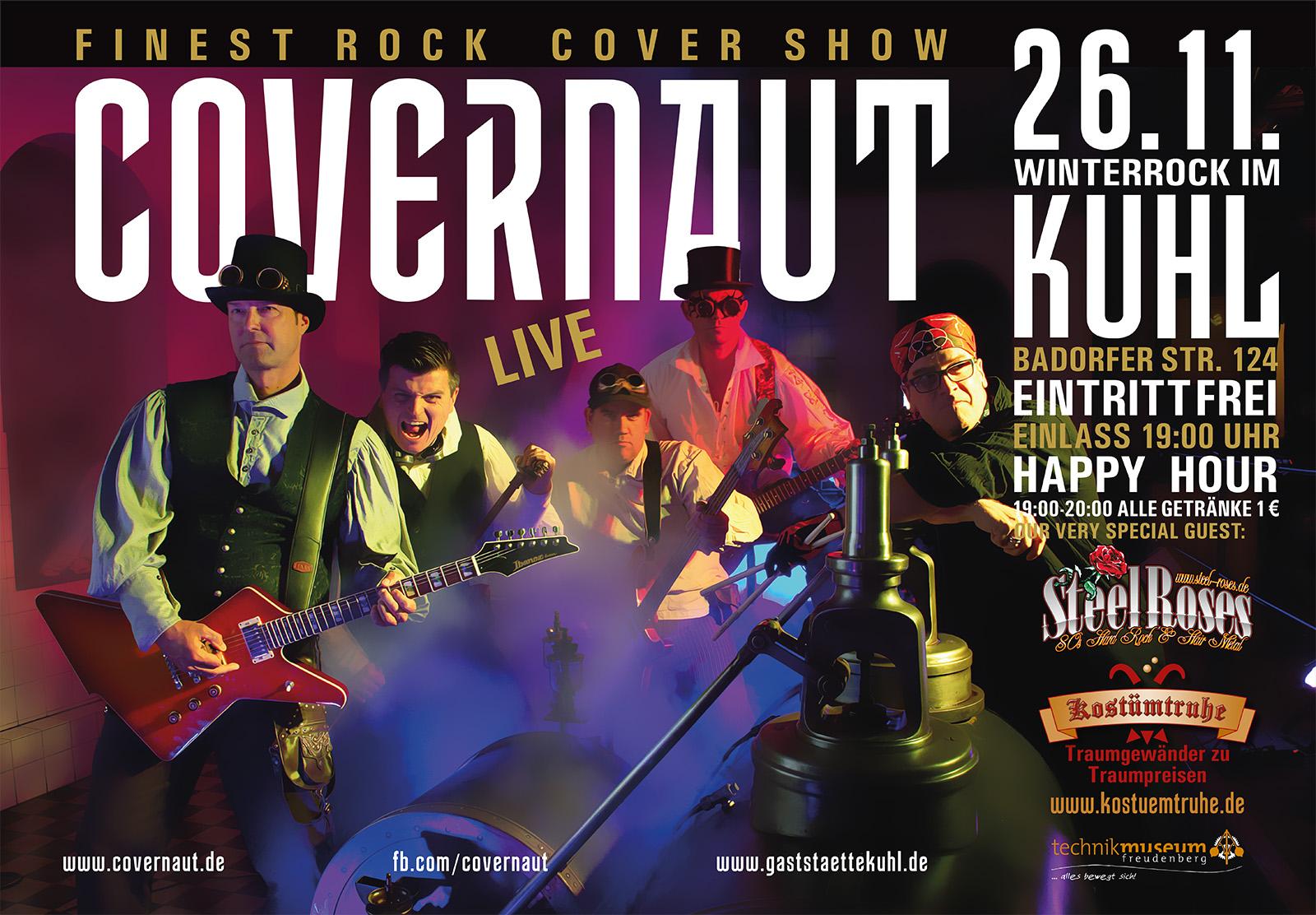 Plakat der Band für einen Auftritt im Kölner raum